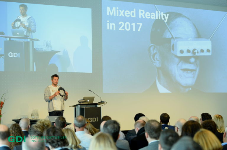 Cornelius Kistler #Trendtag 2017 virtual reality augmented reality in Switzerland