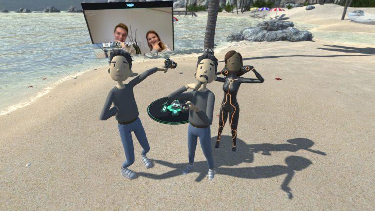 Selfies vom VR Strand